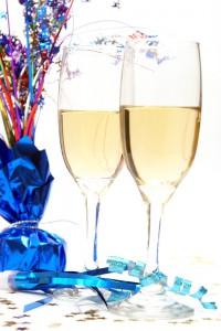 Två glas champange.