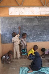 Barnen i vår förskola i Burkina Faso