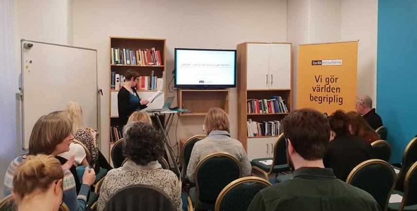 Experten Amalthea Frantz håller föredrag om lättläst.
